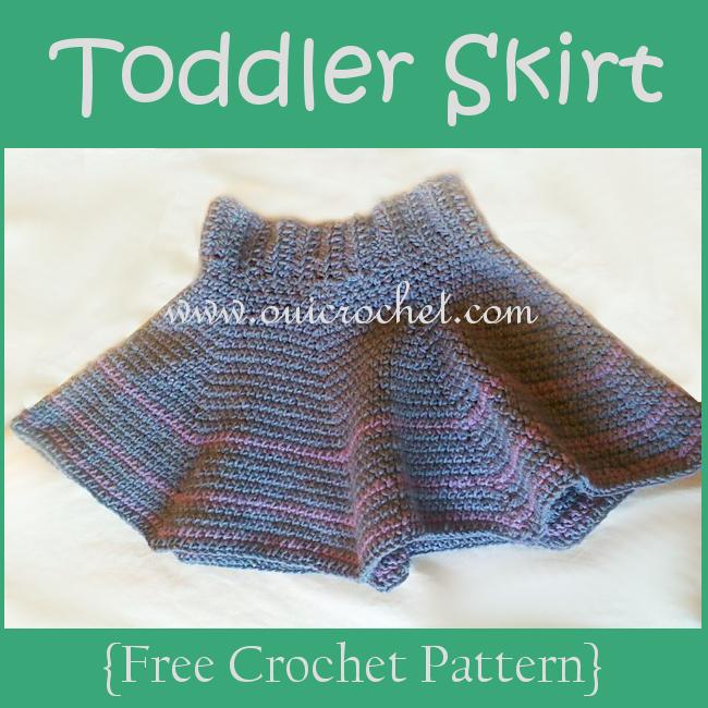 Oui Crochet: Toddler Skirt {Free Crochet Pattern}
