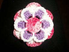 mandalas e flores feitas em crochê - por Simone Miranda