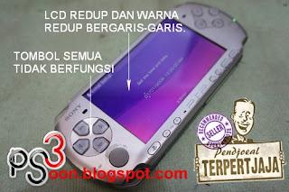 PSP LCD Bergaris Redup
