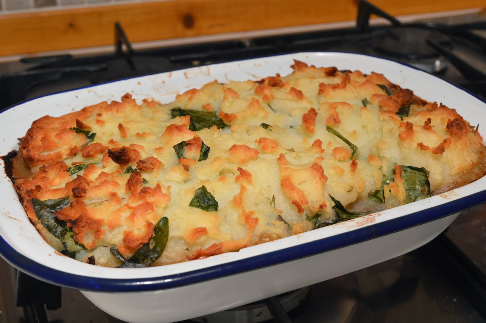 Lentil and Spinach Pie, Nigel Slater, Gingey Bites