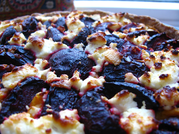Generation Artisan: Roast beetroot, sweet potato and goats cheese tart