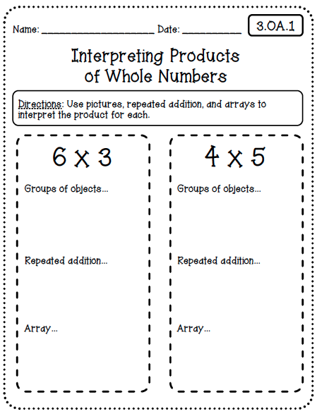 Common Core Worksheets (3rd Grade Edition) - Create○Teach○Share