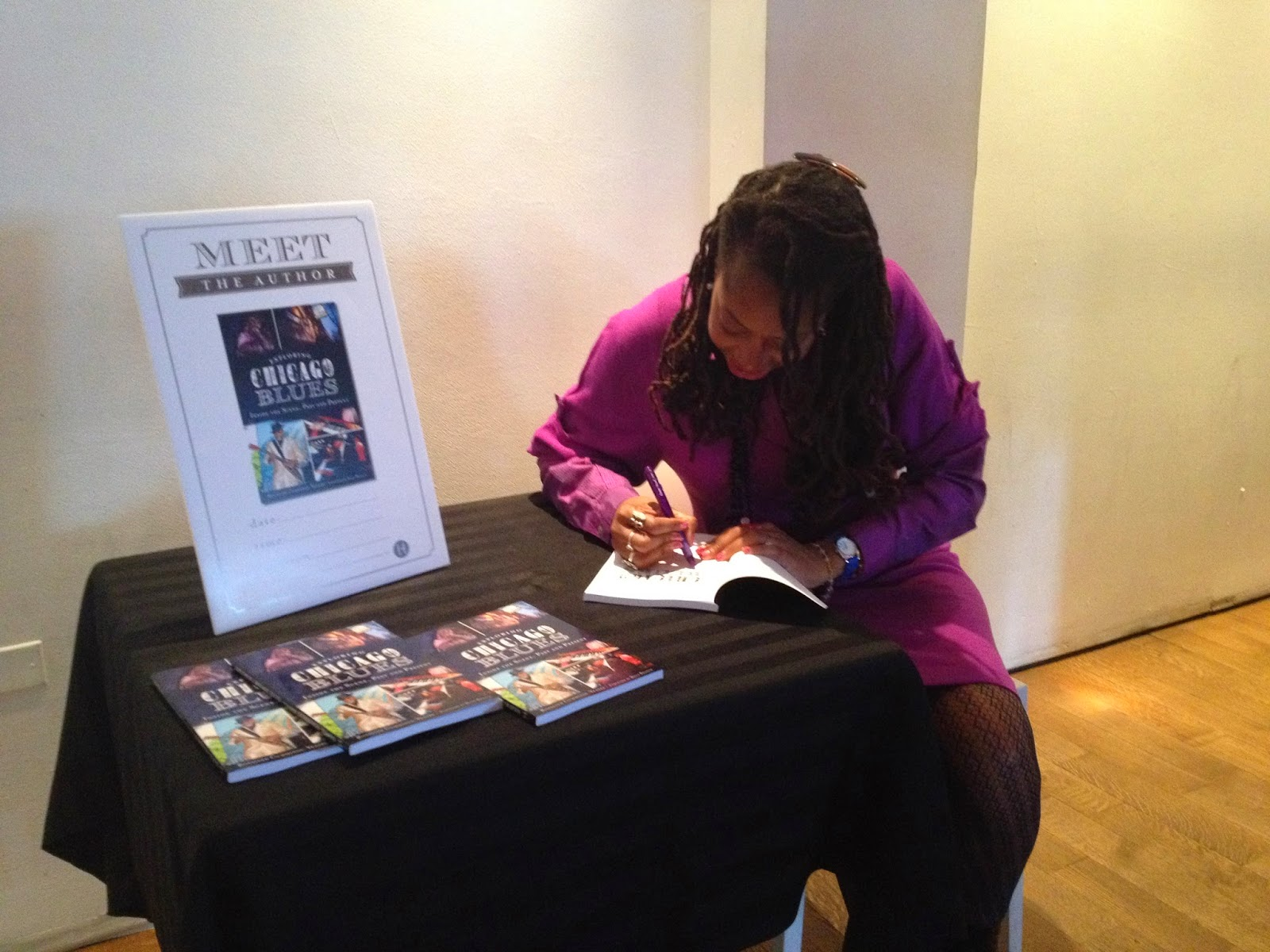 Rosalind Cummings Yeates Autographing her book Exploring Chicago Blues
