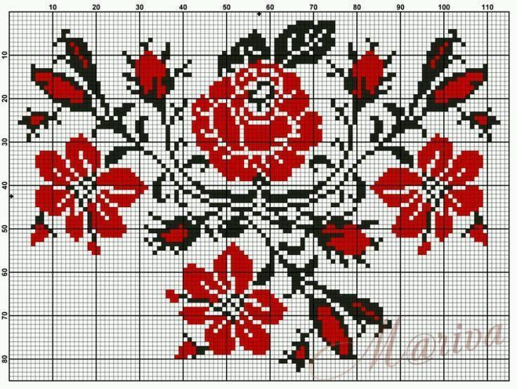 Розы в русской народной вышивке 40