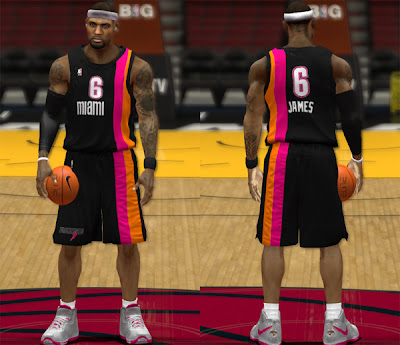 NBA 2K13 Miami Heat Black Floridian Jersey Patch