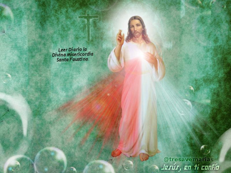 divina misericordia fondo verde