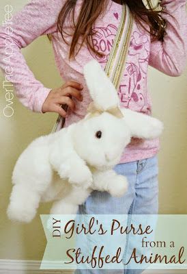 DIY Purse From A Stuffed Animal >> Over The Apple Tree