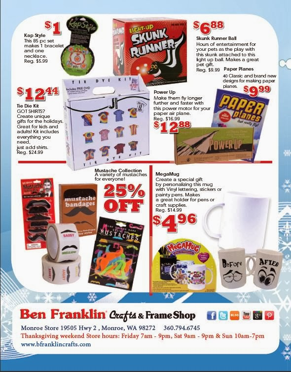 Ben franklin crafts and frame shop monroe wa pre for Ben franklin craft store coupons