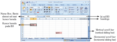 Worksheet MSExcel 2007.