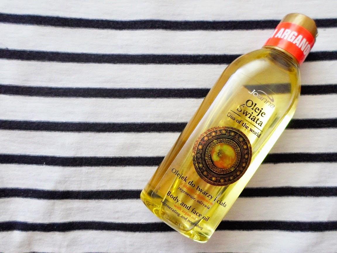 Recenzja: Olejek do twarzy i ciała z olejkiem arganowym Oleje Świata, Joanna