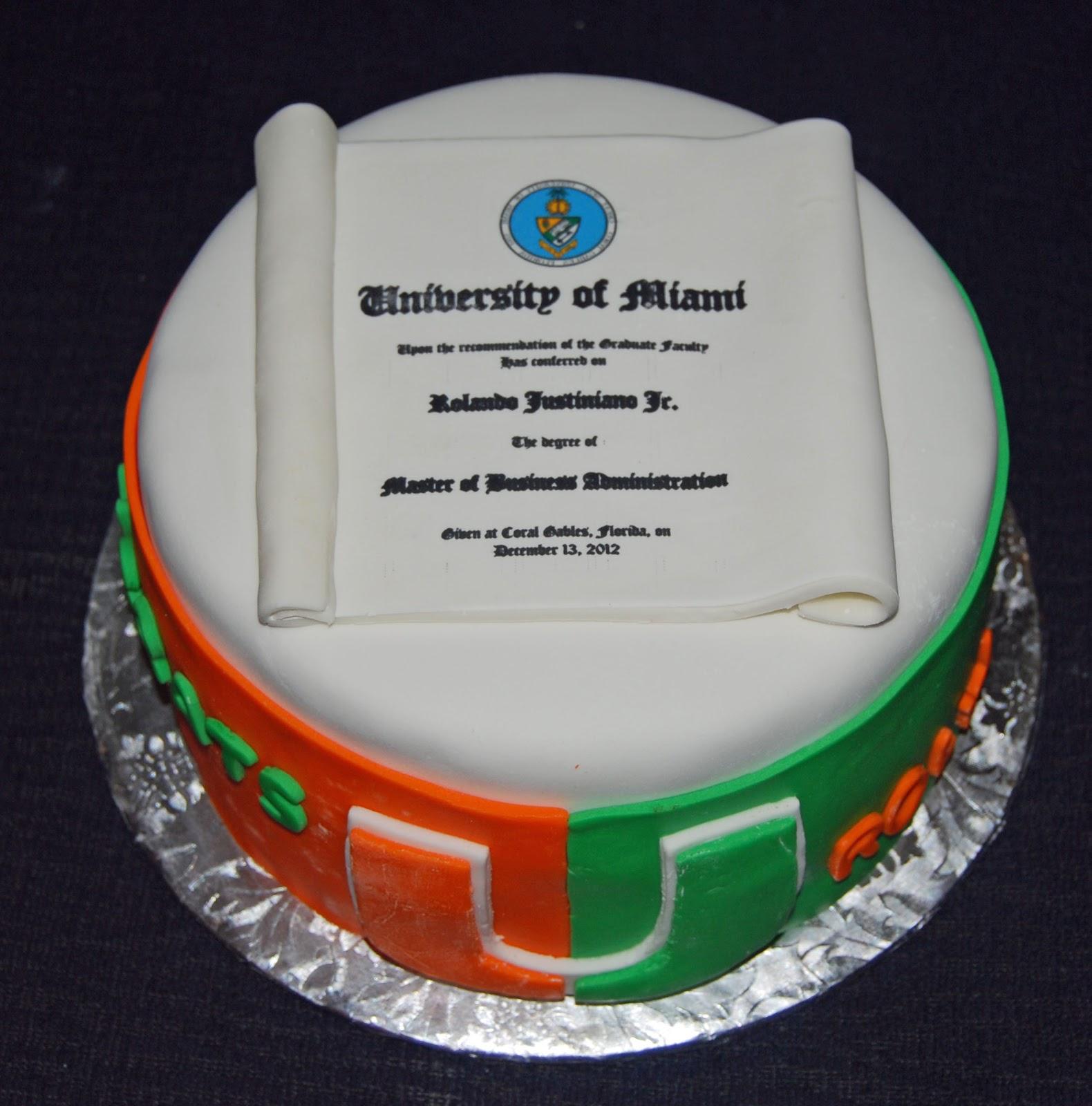 Leelees Cakeabilities UM Graduation Cake