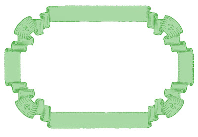 Stock Images French Ribbon Graphic Frames Green