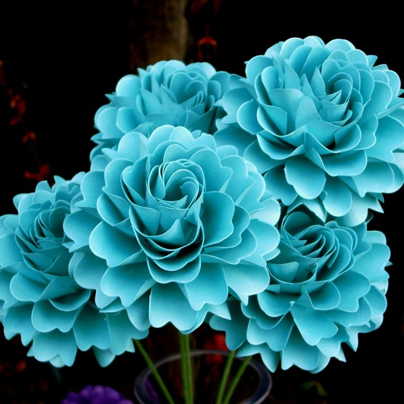 how to make a paper blue bell flower