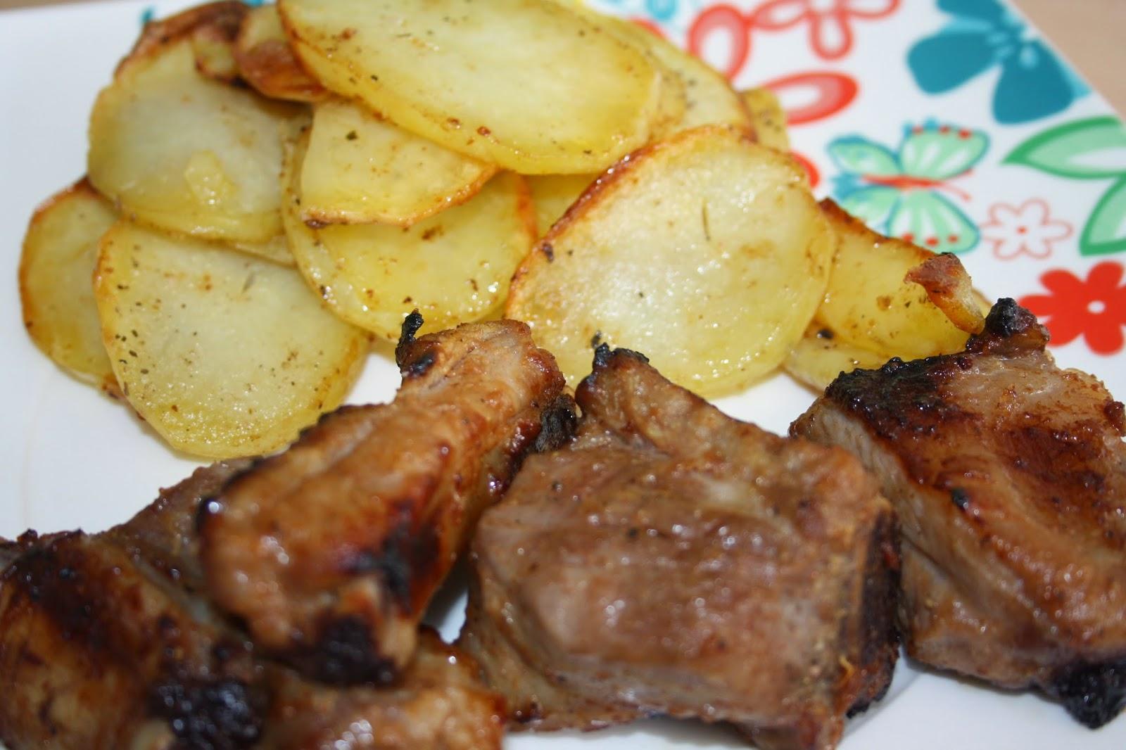 Costillas de cerdo con patatas panadera cecofry un - Patatas con costillas de cerdo ...