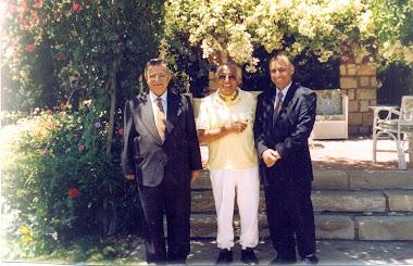 مع محمد حسنين هيكل و مام جلال