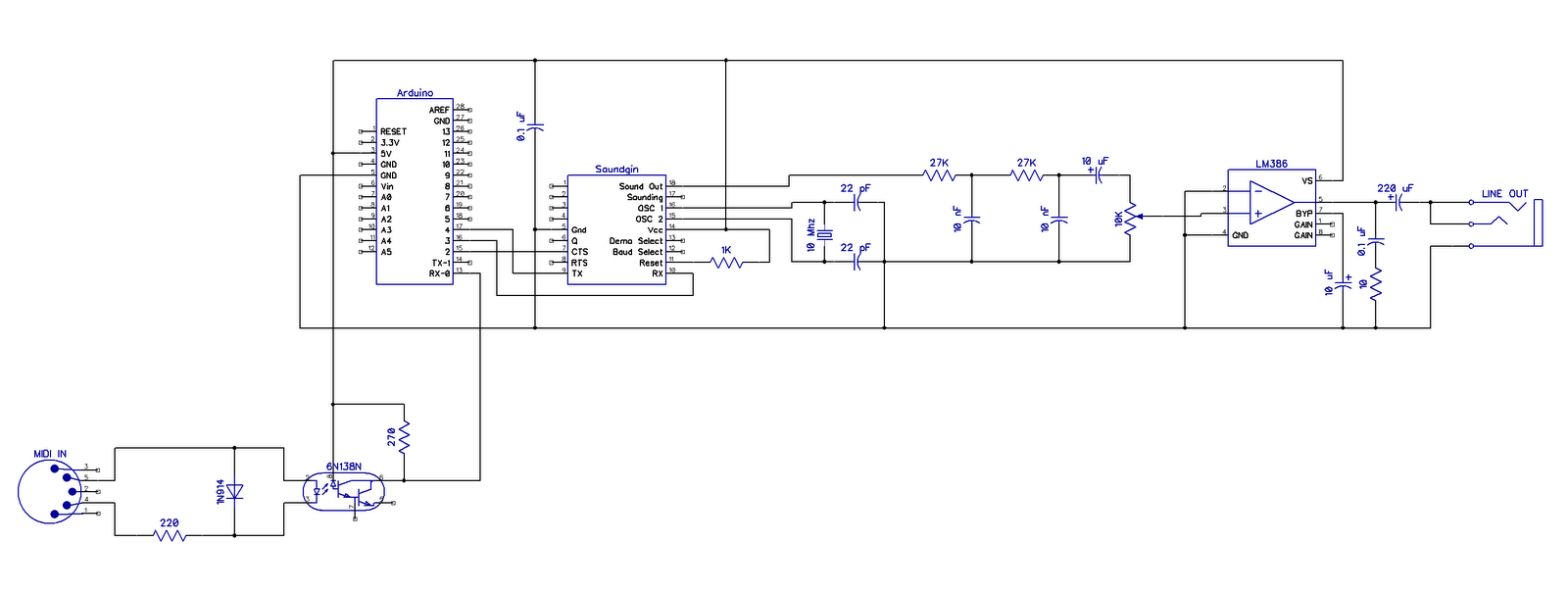 Notes And Volts Nav 1 Arduino Soundgin Babblebot Synth Part 2 Circuit Page 8 Microcontroller Circuits Nextgr Schematic