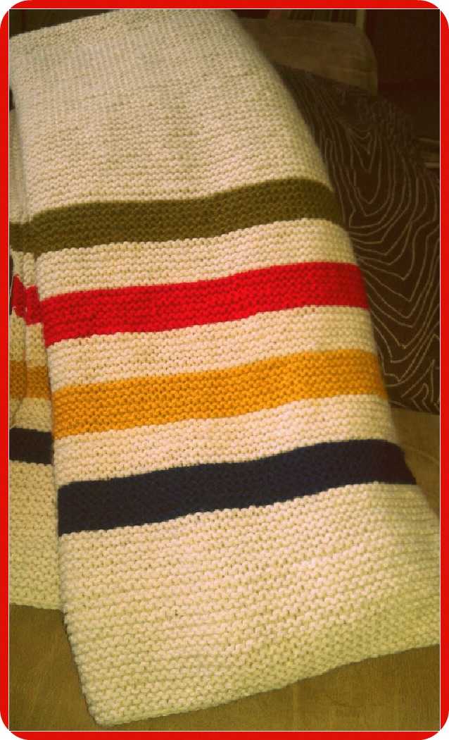 Knitting Pattern For Hudson Bay Blanket : blend: February 2012