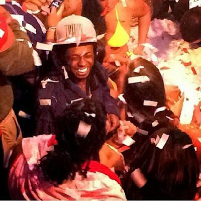 fotos de lil wayne en el club liv celebrando su cumpleaños