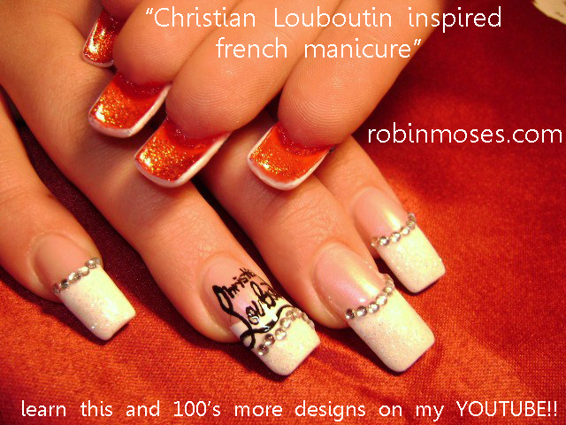 http://www.youtube.com/watch?v=Q7D3QQuFn_s - CHRISTIAN LOUBOUTIN Nail Art Tutorial, INDIAN WEDDING Red And Gold