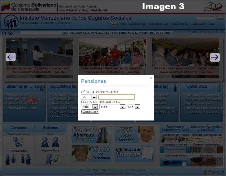 Seguidamente aparecerá una pantalla como nos muestra la imagen 3.