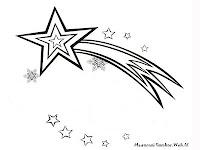 Gambar Bintang Dilangit Untuk Diwarnai