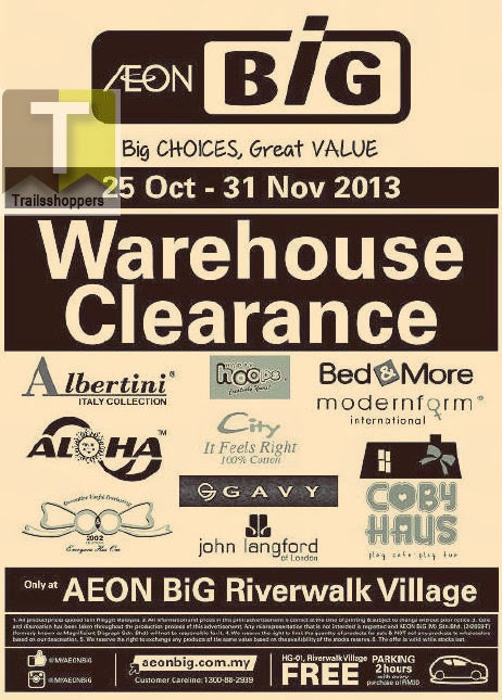 AEON BiG Warehouse Clearance 2013