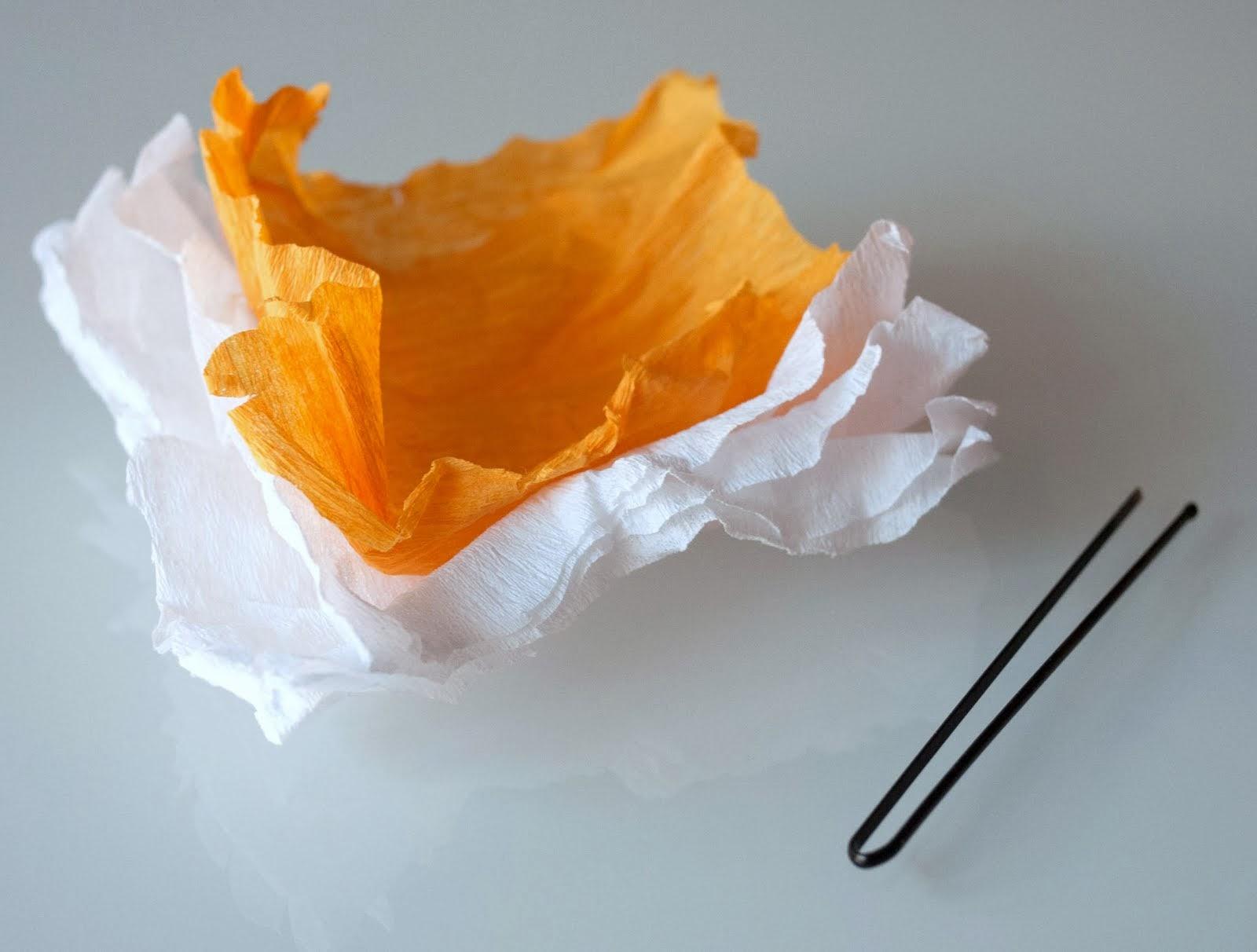 Materiales para hacer flores de papel para el pelo