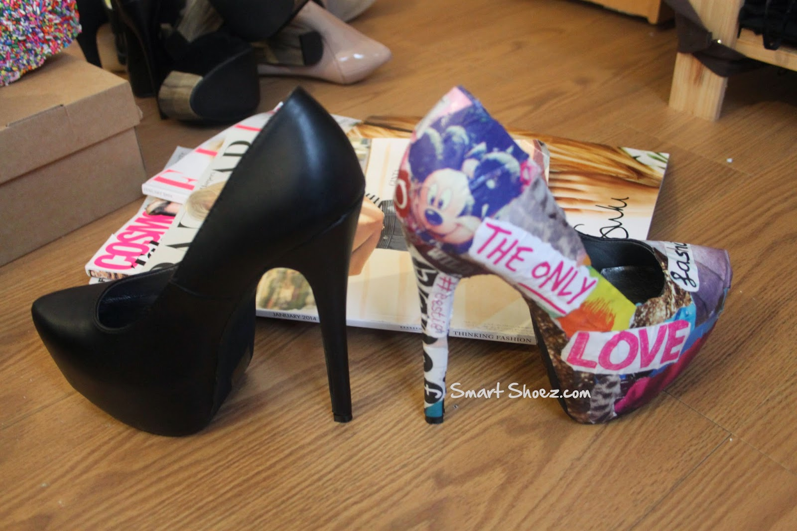 magazine customized shoes by eileen carmel