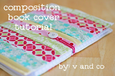 composition book cover tutorial by v and co - back to school craft