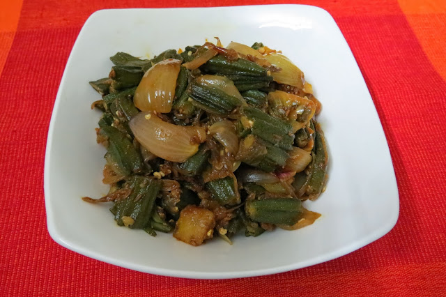 Bhindi aloo do pyaaza