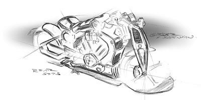 Concept Motorcycle Sketch