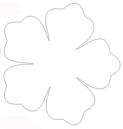 Moldes para hacer flores hawaianas - Imagui