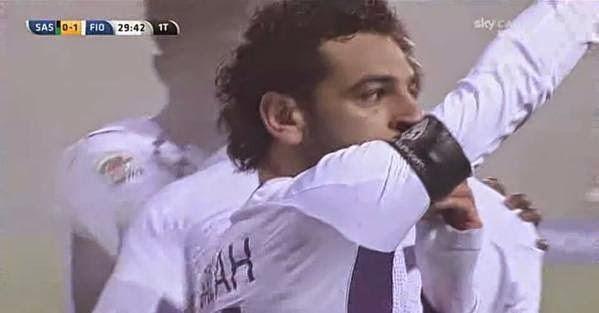 شاهد هدف محمد صلاح فى مرمى ساسولو||اهداف مباراة سـاسولو و فيورنتينا 1-3