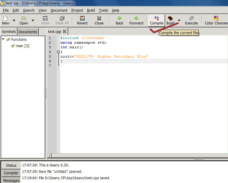 Geany Gcc C Compiler For Windows Hsslive In