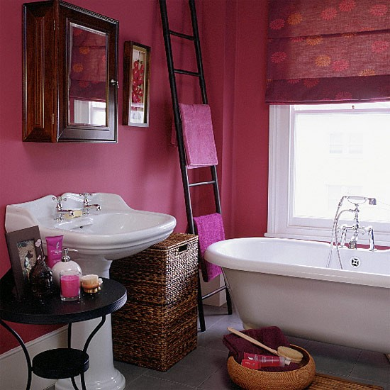 decorar sustentável Decorando banheiros parte 2 -> Banheiro Rosa Simples
