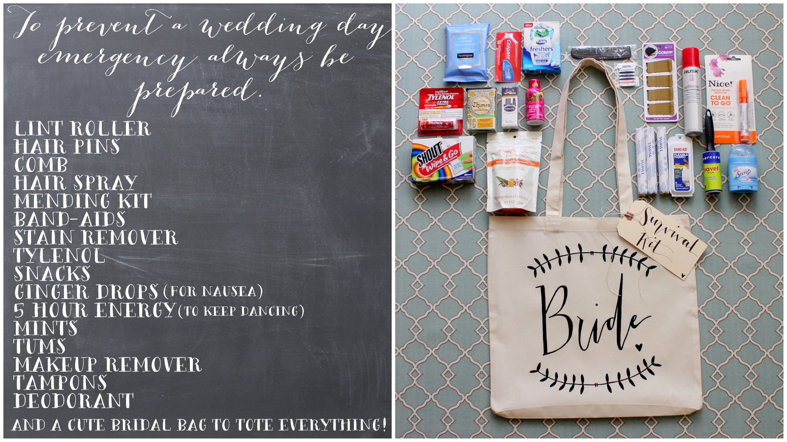 Dream State: DIY Wedding Day Survival Kit