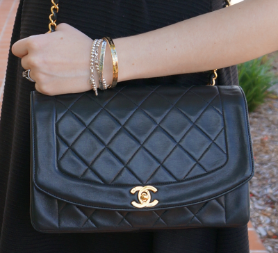 Mica Away From Blue vintage Chanel quilted medium flap bag