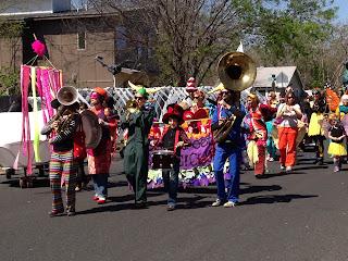 Honk band festival in Austin with children in Austin