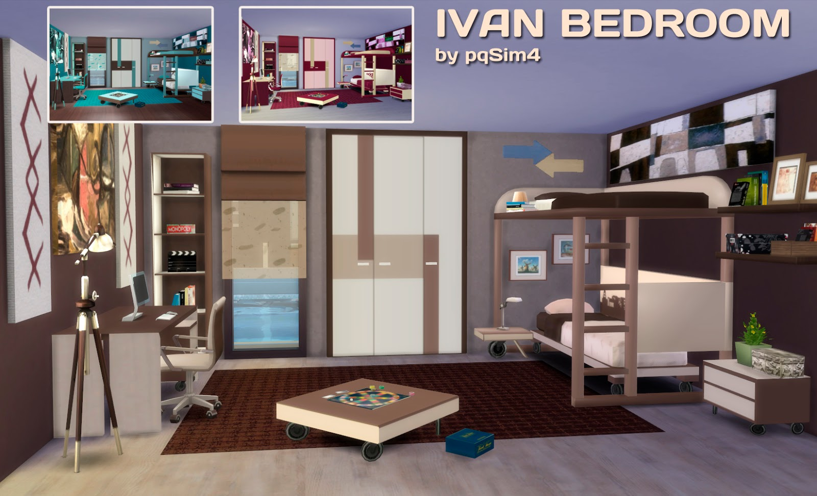 my sims 4 blog ivan bedroom set by pqsim4