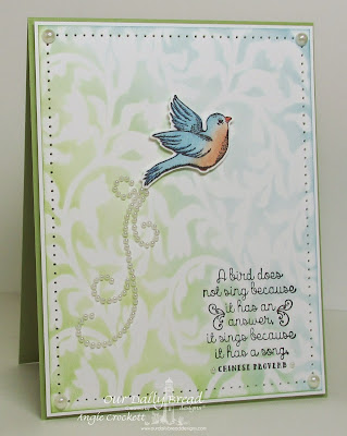ODBD Spread Your Wings, ODBD Custom Birds and Nest Dies, Card Designer Angie Crockett