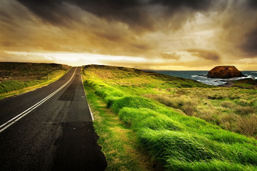 Camino al oeste - Road West HDR (1920x1200px)
