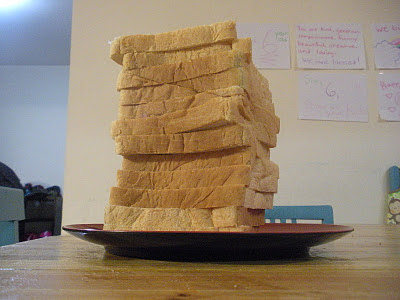 mound of bread for grilled cheeses