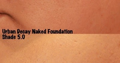glitter obsession: Urban Decay Naked Foundation Shade 5.0