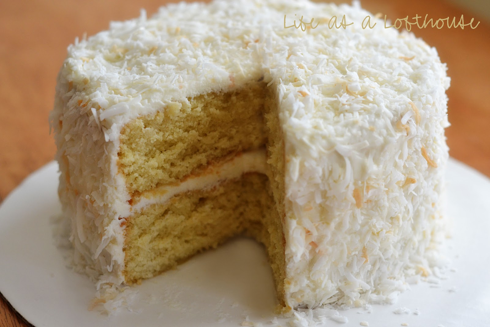 Best White Cake With Coconut Frosting