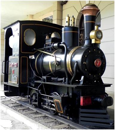 "Locomotiva n° 7 ""Duquesa"", fabricada pela Decauville Ainé, Nowawe,  em 1913"