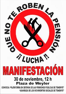 Manifestación Plataforma Pensiones