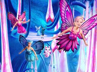 Wallppaer gambar Barbie Mariposa dan teman-teman