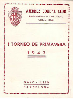 Portada del folleto de Torneo de Ajedrez de Primavera 1943