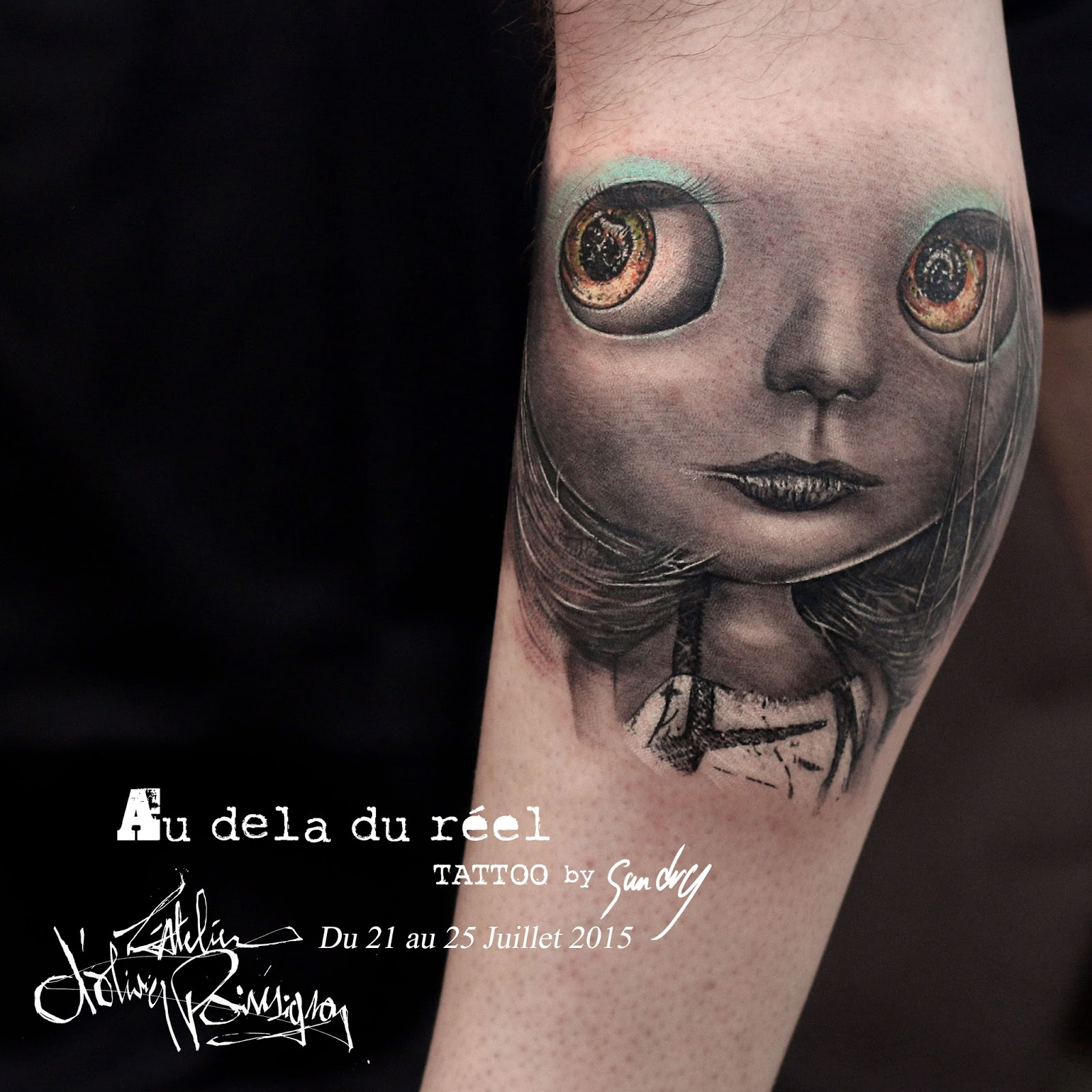 Tatouage sur la paume Sortir Ensemble - tatouage paume de la main