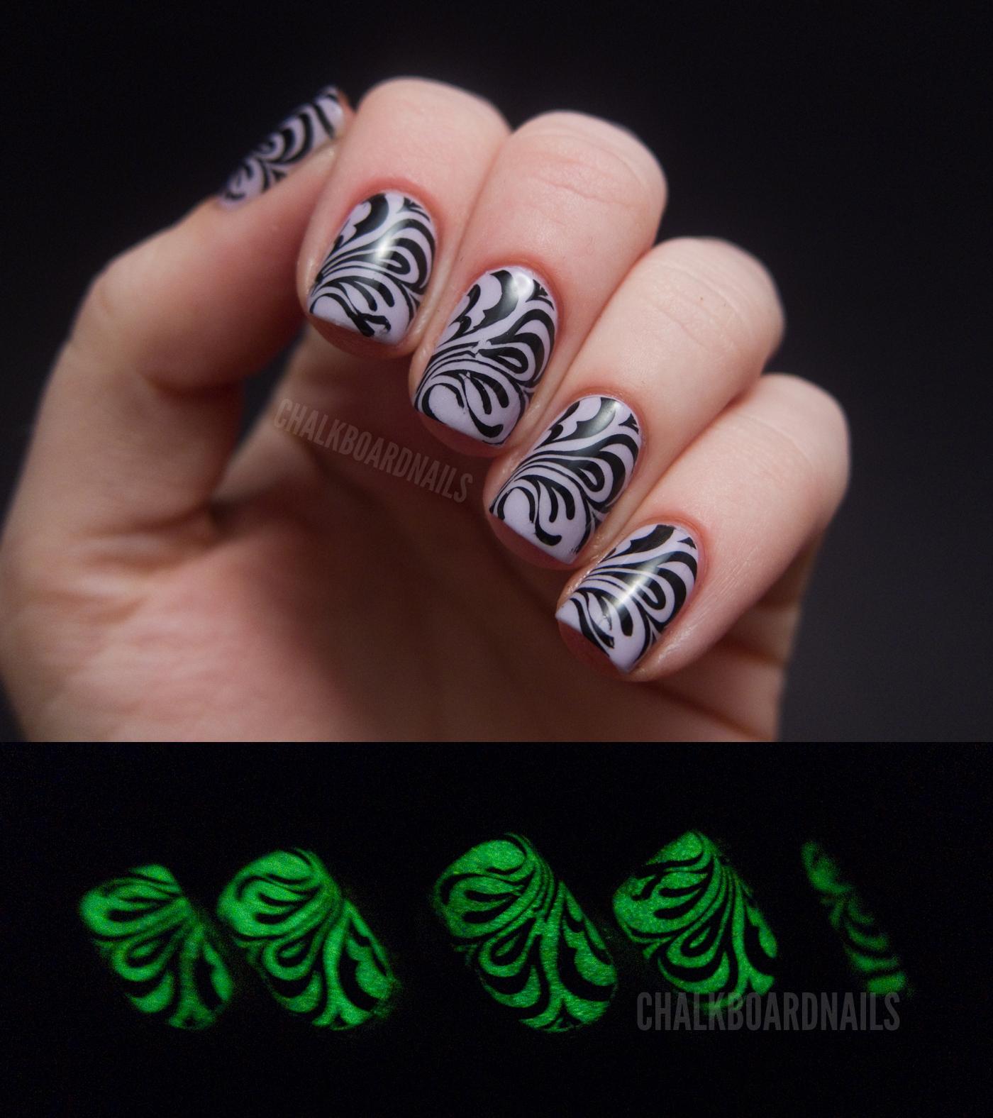 Spooky Stamping | Chalkboard Nails | Nail Art Blog